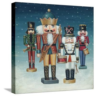 King Nutcrackers Snow-David Cater Brown-Stretched Canvas Print