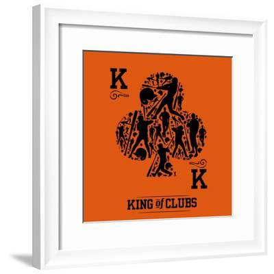 King of Clubs Sage-Jim Baldwin-Framed Art Print