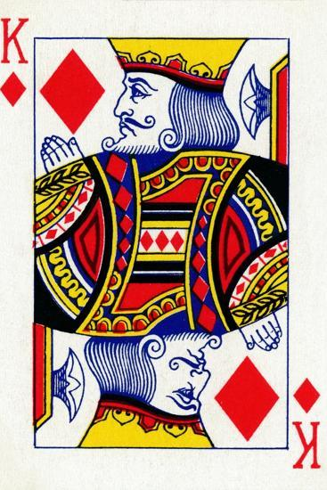 King of Diamonds from a deck of Goodall & Son Ltd. playing cards, c1940-Unknown-Giclee Print