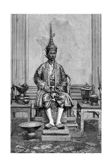 King of Siam on Throne--Giclee Print