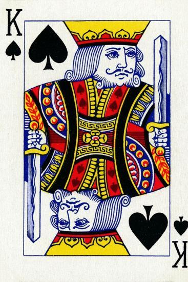 King of Spades from a deck of Goodall & Son Ltd. playing cards, c1940-Unknown-Giclee Print