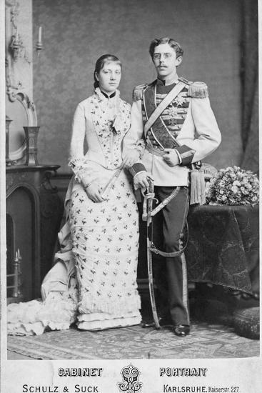 King of Sweden and His Wife--Photographic Print