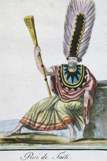 King of Tahiti, Society Islands--Giclee Print