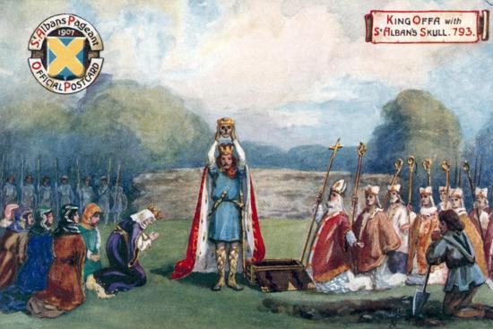 King Offa with St Alban's Skull, 793--Giclee Print