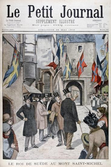 King Oscar II of Sweden Visiting Mont Saint-Michel, Normandy, France, 1902--Giclee Print