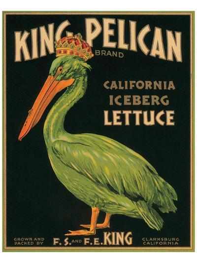 King Pelican Brand California Iceberg Lettuce--Art Print
