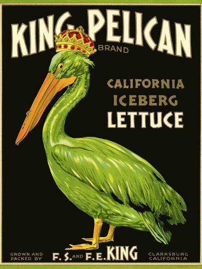 King Pelican Brand Lettuce--Giclee Print