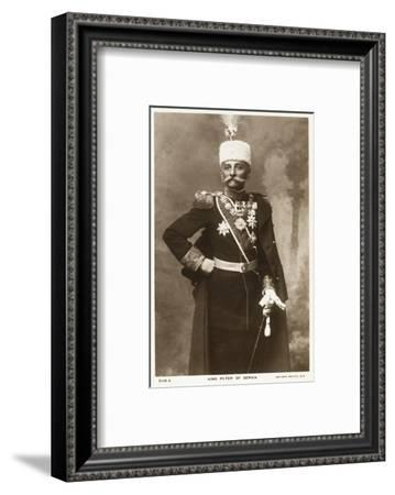 King Peter I of Serbia--Framed Photographic Print