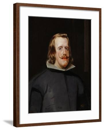 King Philip IV of Spain (1605-1665), Painted 1655-1660-Diego Velazquez-Framed Giclee Print