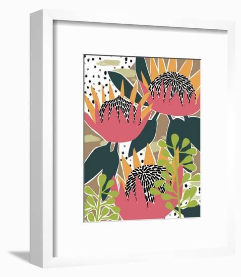 King Protea I-Melissa Wang-Framed Art Print