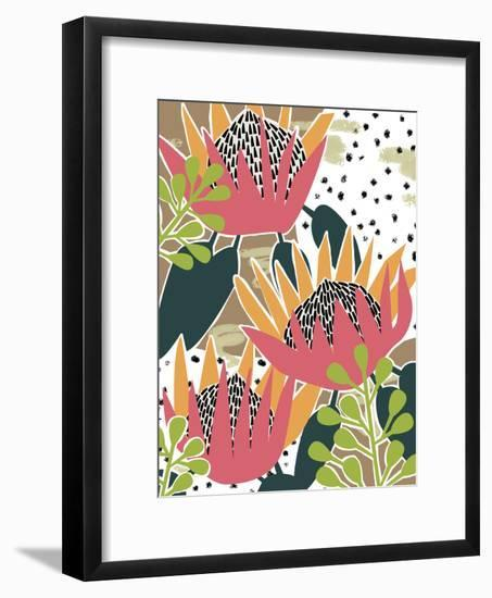 King Protea II-Melissa Wang-Framed Art Print
