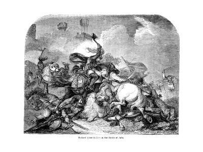 King Richard I (1157-119) at the Battle of Jaffa, 1192--Giclee Print