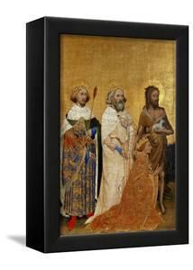 King Richard II (1367-1400) Kneeling in Front of King (Saint) Edmund and King Edward the Confessor