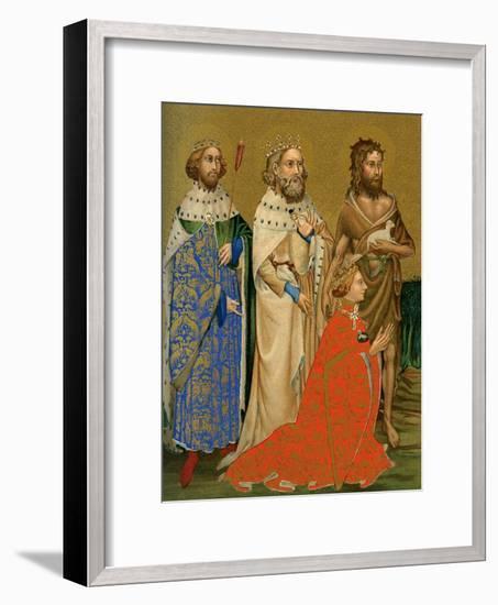 King Richard II of England and His Patron Saints, 14th Century--Framed Giclee Print