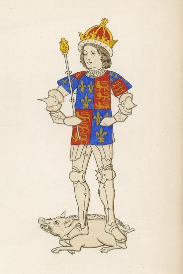 King Richard III, 1483-85-Henry Shaw-Giclee Print