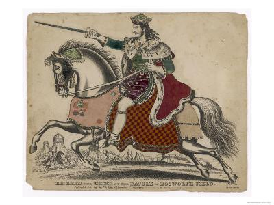 King Richard III of England Depicted at the Fatal Battle of Bosworth Field--Giclee Print