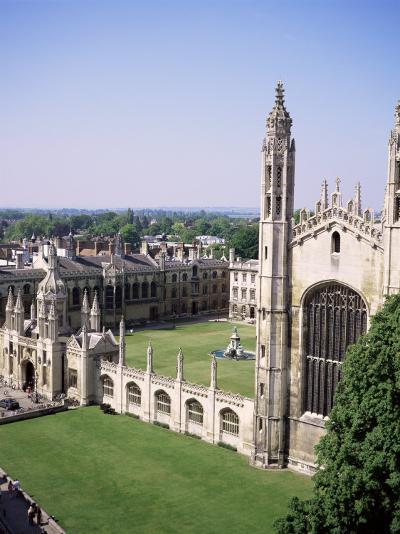King's College and Chapel, Cambridge, Cambridgeshire, England, United Kingdom-Roy Rainford-Photographic Print