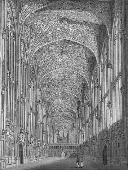 'King's College Chapel', 1845-Unknown-Giclee Print
