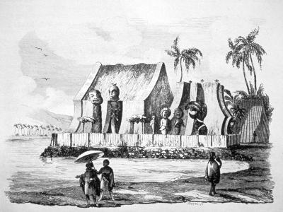 King's Temple in the Bay of Tiritatea, C1746-1830-Ludwig Choris-Giclee Print