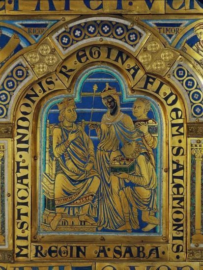 King Solomon and the Queen of Sheba, Verdun Altar, Begun 1181, Enamel-Nicholas of Verdun-Giclee Print