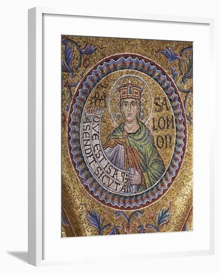 King Solomon (Detail of Interior Mosaics in the St. Mark's Basilic), 13th Century--Framed Giclee Print