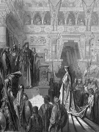 King Solomon Welcoming the Queen of Sheba, 1865-1866-Gustave Dor?-Giclee Print