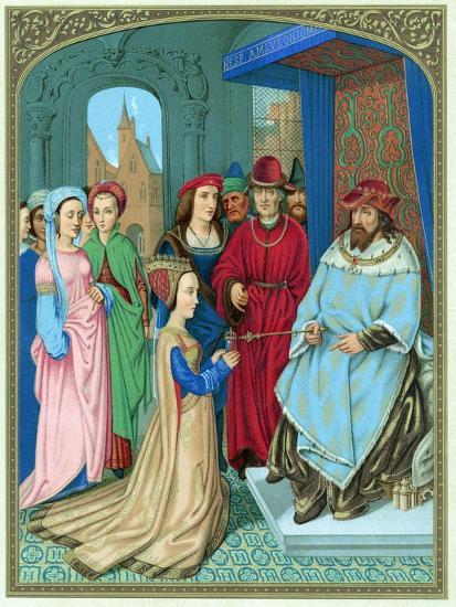 King Solomon Welcoming the Queen of Sheba-Hans Memling-Giclee Print
