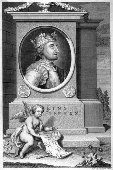 King Stephen (1096-115), 18th Century-George Vertue-Giclee Print