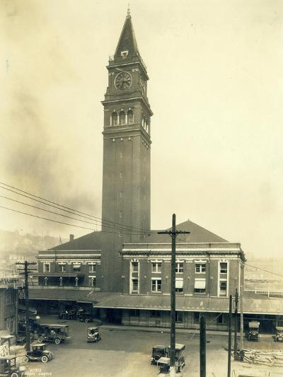 King Street Station, Seattle, 1924-Asahel Curtis-Giclee Print