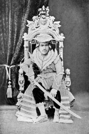 King Thibaw of Burma in Full Court Dress, C1900--Giclee Print