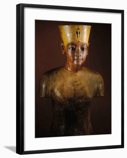 King Tutankhamun, Tut Manniken, Wooden Torso, Egyptian Museum, Valley of the Kings, Egypt-Kenneth Garrett-Framed Photographic Print