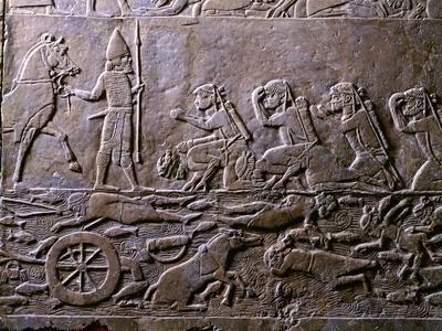 King Ummanigash the Elamite King Being Saluted on Arriving in Madaktu--Giclee Print