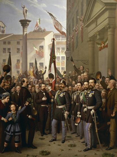 King Victor Emmanuel II in Vicenza--Giclee Print