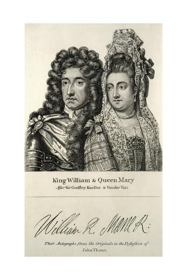 King William and Queen Mary Engraving--Giclee Print