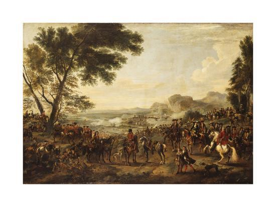King William III and his Troops preparing for a Battle-Jan Wyck-Giclee Print