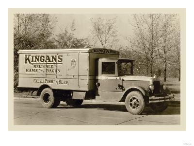 Kingan's Meat Truck--Art Print