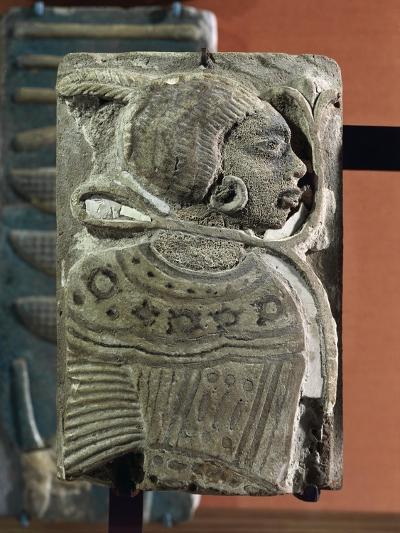 Kingdom of Ramses II, Plate Representing a Black Prisoner, Vitrified Brick, from Egypt--Giclee Print