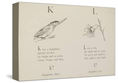 Kingfisher and Lily Illustrations and Verse From Nonsense Alphabets by Edward Lear.