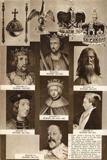 Kings and Crown Jewels, 1937--Giclee Print