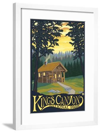 Kings Canyon Nat'l Park - Cabin Scene - Lp Poster, c.2009-Lantern Press-Framed Art Print