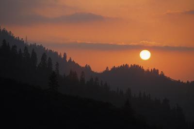 Kings Canyon Smokey Sunset-Buck Forester-Photographic Print