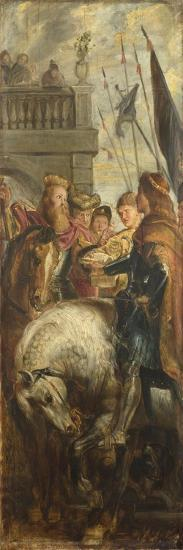 Kings Clothar and Dagobert Dispute with a Herald from the Emperor Mauritius-Peter Paul Rubens-Giclee Print