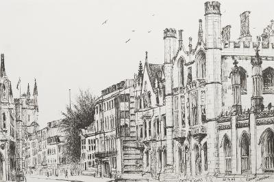 Kings College, Cambridge-Vincent Booth-Giclee Print