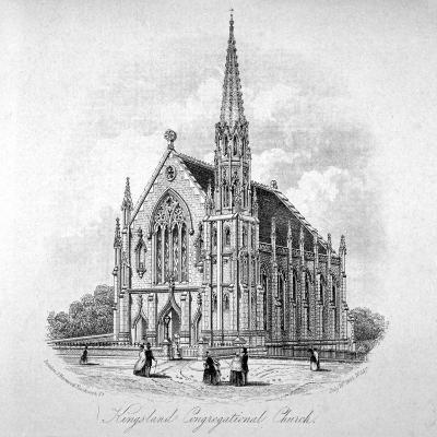 Kingsland Congregational Chapel, Kingsland Road, Hackney, London, 1853--Giclee Print