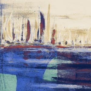 Blue Calm Waters Square I by Kingsley