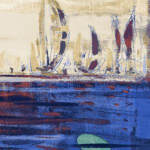 Blue Calm Waters Square II by Kingsley