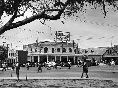 Kingston Commercial District at South Parade, Jamaica, C.1950--Photographic Print