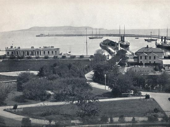 'Kingstown - General View of the Harbour', 1895-Unknown-Photographic Print