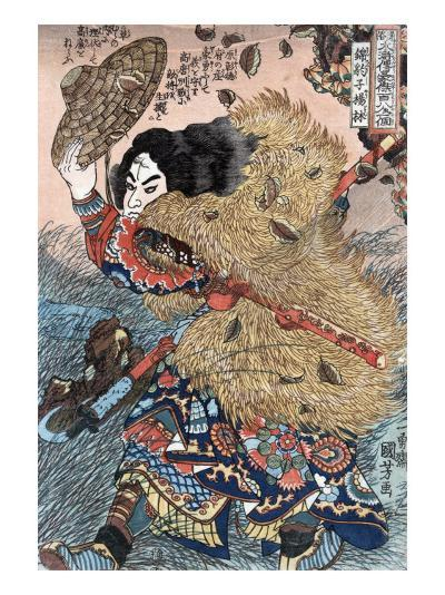 Kinhyoshi Yorin, Hero of the Suikoden, Japanese Wood-Cut Print-Lantern Press-Art Print