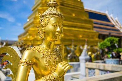 Kinnara Statue at Temple of the Emerald Buddha (Wat Phra Kaew), Grand Palace Complex, Bangkok-Jason Langley-Photographic Print